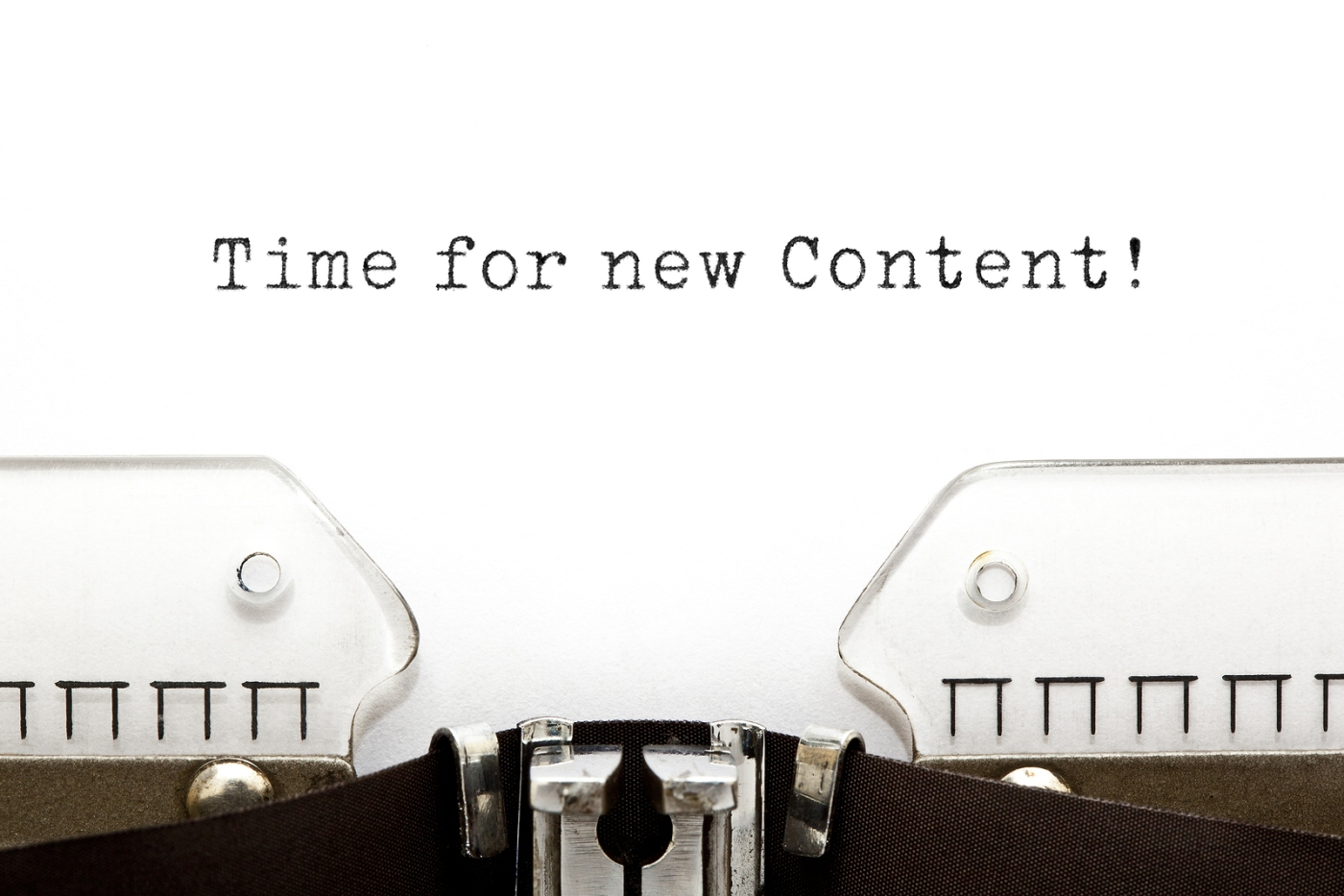 time for New content